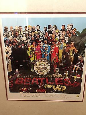 The Beatles Sgt. Peppers Limited Edition Lithograph Framed