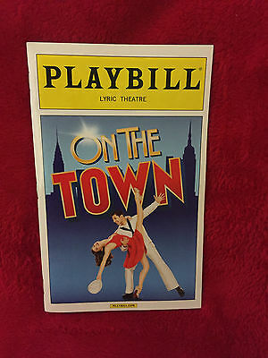 Broadway Playbill - On The Town, April 2015, Tony Yazbeck, Megan Fairchild