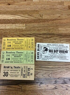 Broadway Ticket Movie Prop!  And Others You Get Them All!!! ( Movies 05)