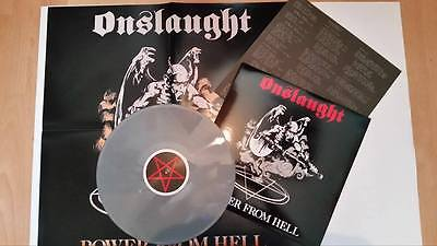 "Onslaught - Power from Hell 12"" Silver LP"