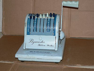 Used Vintage Working PAYMASTER Ribbon Cheque Writer Series 8000 READ