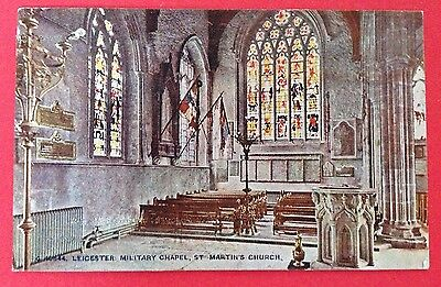 Leicestershire - Leicester Military Chapel St. Martins Church PC Pub. Photochrom