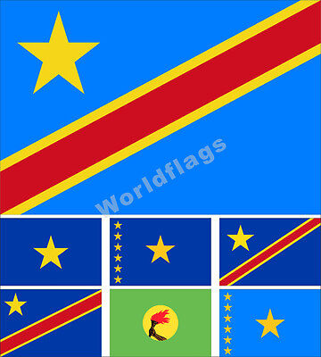 DEMOCRATIC REPUBLIC OF the Congo Flag 3x5 ft Country Africa