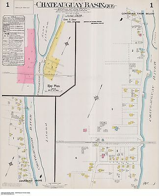 QUEBEC CHATEAUGUAY TWO Street Maps 1906 - 1912