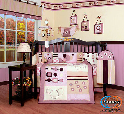 Baby Boutique GEENNY Girl Artist 13PCS Nursery CRIB BEDDING SET