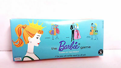 Barbie Miniature 1961 Repro Queen of the Prom The First Barbie Game 1994 Diorama