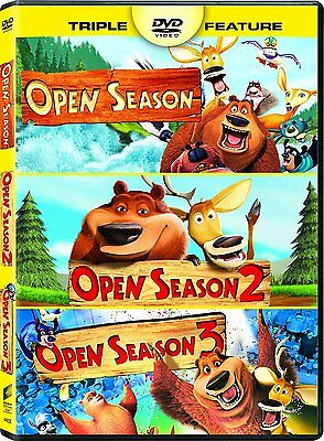Open Season: Complete Animated Movie Trilogy 1 2 3 Collection Box / DVD Set NEW!