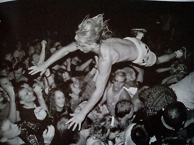 Nirvana Crowd Surfing at gig 1990 Taken from Music Book 20x14cm Cobain Grohl