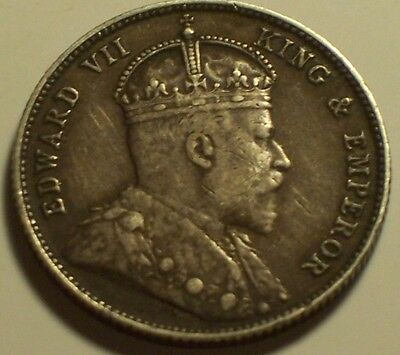 British Honduras, 1907 Edward VII Twenty Five Cents, 25 Cents.