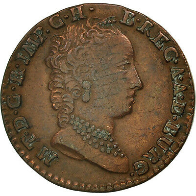 [#451855] AUSTRIAN NETHERLANDS, Maria Theresa, Liard, Oord, 1752, Bruges, SS