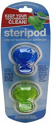Steripod Clip-on Toothbrush Protector Blue Green