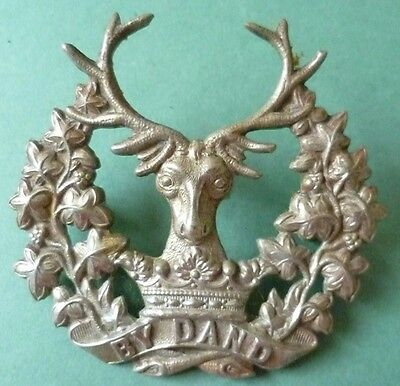 Badge- WW1 Gordon Highlanders Cap Badge WM 2 LUGS