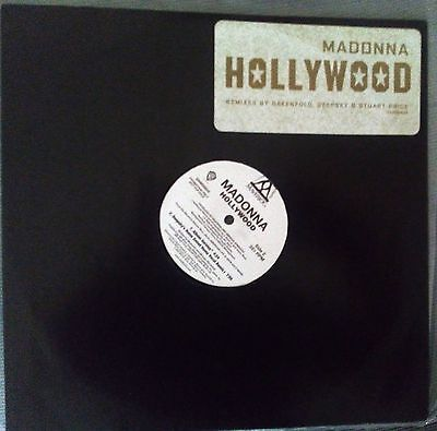 "Madonna Hollywood Remixes  12"" vinyl single record  USA REAL PROMO! Rebel Heart"