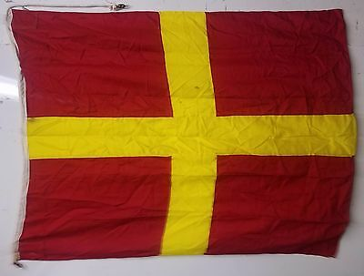 Vintage International Maritime Signal Flag - Romeo - Usually followed by numbers