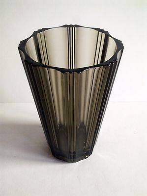 Signed french art-deco crystal glass vase 1930's