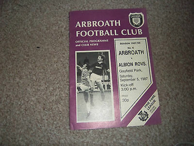 Arbroath V Albion Rovers 5/9/1987