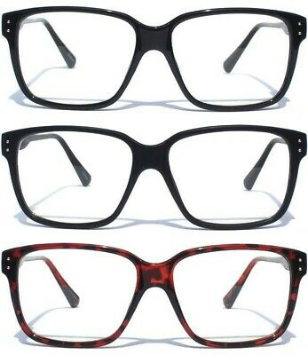 CLEAR LENS GLASSES NERD GEEK Retro Vintage Design Fashion Hipster Choose Frame