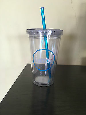 Nescafe Coffee Insulated Plastic Tumbler Reusable Straw Promo Free Shipping