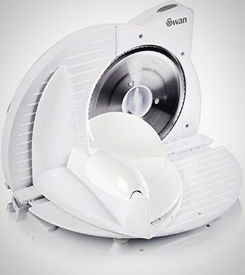Swan SP10060N Compact White Electric Food Slicer Veg Meat Bread Cheese 150 W New