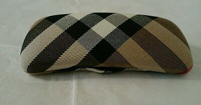 Burberry Eyeglass Clam Case Classic Pattern