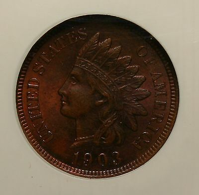1903 NGC Indian Cent NGC MS64BN MS64 Brown Beauty!