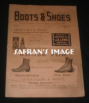 1885 Boots & Shoes Magazine w Ad for BASE BALL Shoes Collectors MUST L@@K