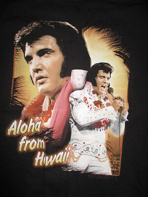 """1999 ELVIS PRESLEY The King of Rock 'n' Roll """"From Hawaii"""" (LG) T-Shirt"""