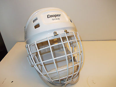 Vintage Cooper SK 600 Ice Hockey Helmet with bubble cage medium size