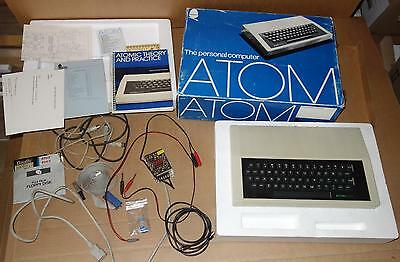 acorn atom, in blue box, tested with all cables and power supply