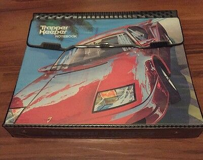 Vintage Trapper Keeper Ferrari/Red Sports Car 80s or 90s