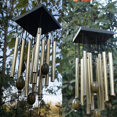 12 Tubes Wind Chimes Bells Copper Outdoor Yard Garden Home Decor Butterfly Shape