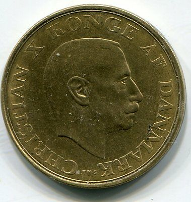 1945 Alum Bronze Denmark 1 One Krone Coin Currency