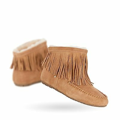 EMU Australia Womens Moccasins Slippers Cayote Sheepskin in Chestnut