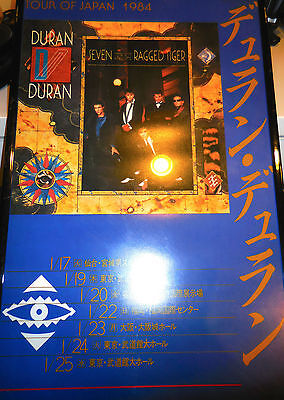 Duran Duran Seven And The Ragged Tiger Tour Of Japan 1984 Poster