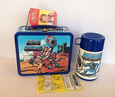 Vintage Mint 1984 HE-MAN AND THE MASTERS OF THE UNIVERSE Metal Lunch Kit W/Tags