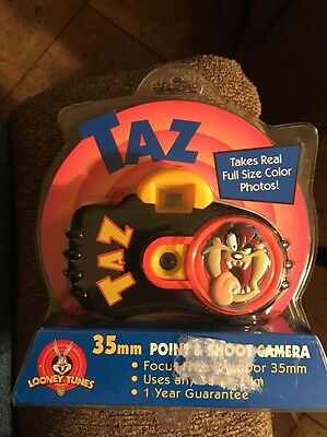Tasmanian Devil TAZ 35mm Film Camera Looney Tunes 1999 Collectible NEW