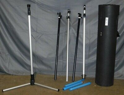 Lot Of 5 Duo Display Trade Show Assorted Foldable Stands + Case