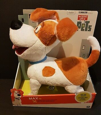 "NEW IN BOX 12"" Talking Max from The Secret life of Pet's movie"