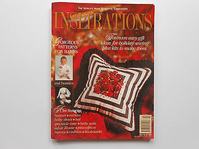 INSPIRATIONS MAGAZINE - ISSUE 10 - PATTERNS ATTACHED - LIKE NEW COND. free post