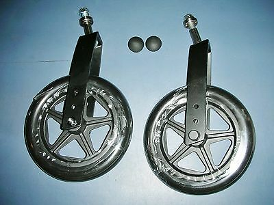 8'' Pr Breezy Wheelchair Caster Assembly with Front Wheels/Tires Replacements