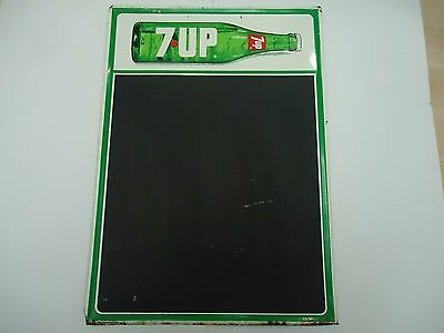 Vintage 7-Up Tin Sign-Chalkboard-1973-Advertising-Rare-Original-Canada
