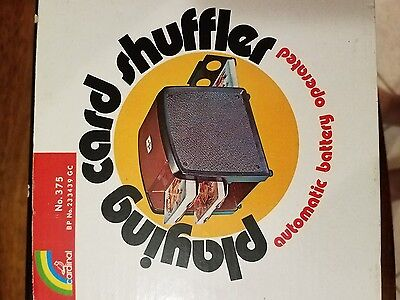 Vintage playing card shuffler by Cardinal automatic battery operated No. 375
