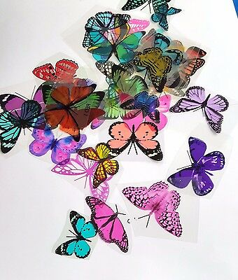 Butterfly Mix - 50 Pack - Random Colours for Scrapbooking,Toppers, Craft, Cards