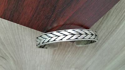 Collectible Old Unique Ethnic Miao Silver Carved Snake Head Bracelet