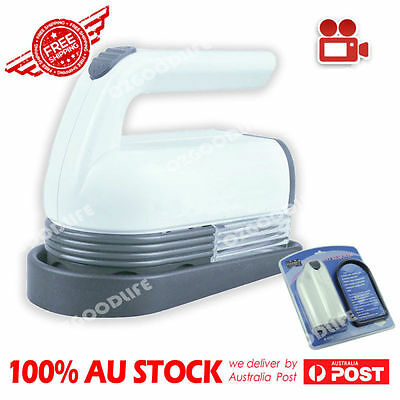 Portable Jumbo Lint Pilling Fluff Remover / Shaver with Accessories ozgoodlife