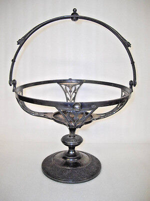 Antique Victorian Silver Plated Bride's Basket Bowl Holder Reed Barton 3275 Z6