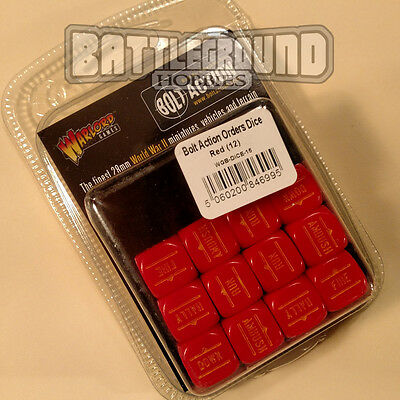 Warlord Games Bolt Action - ORDER DICE PACK - RED - WGB-DICE-15