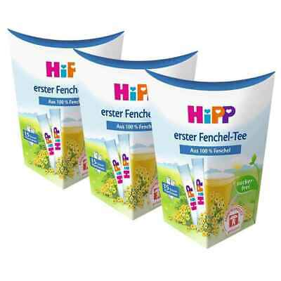 3 BOXES of HiPP Fennel Tea for babies -SINGLES -ORGANIC -Made in Germany-