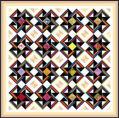 "EVOLUTION - 70"" - Pre-cut Quilt Kit by Quilt-Addicts Double size"
