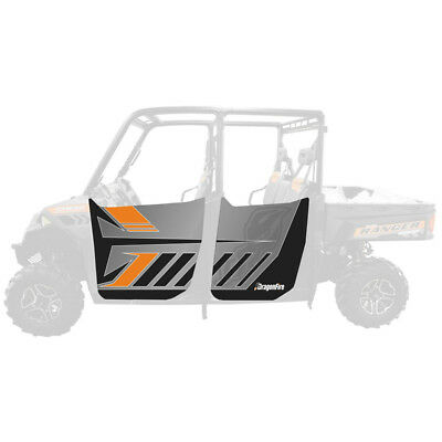 DragonFire Door Graphics Polaris Ranger XP 900 Crew 2013-2015 Titanium